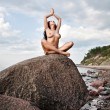Naked Yoga — Stockfoto