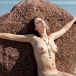 Naked woman sunbathing — Stock Photo #9672275