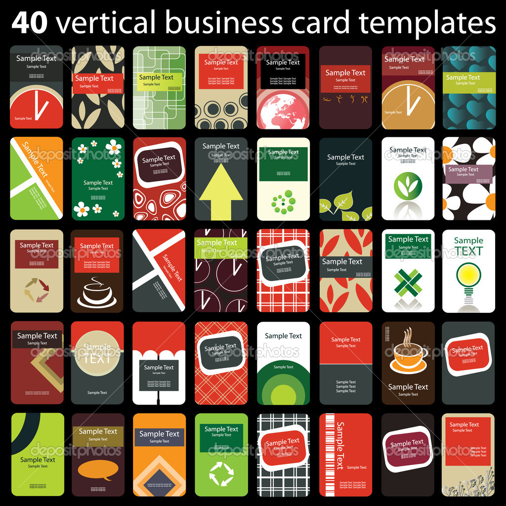 Business card set — Stock Vector © bagotaj