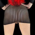 Little black mesh dress — Stock Photo #10576289