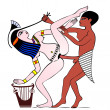 Erotic art of ancient Egypt — Stock Vector #9778644