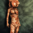 Paper Mache Woman - Mixed-Media Digital Art — Stock Photo #9819285