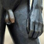 Nude male statue — Stock Photo