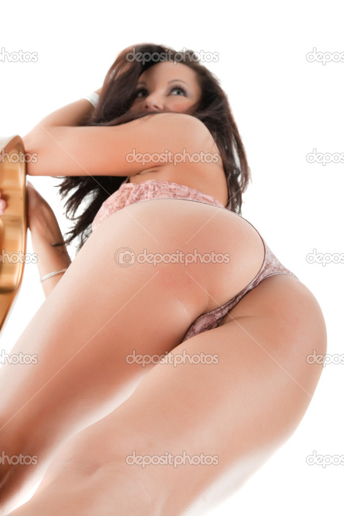 Ass of young woman. Isolated on white — Stock Photo #8888279