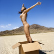 Nude woman jumping. — Stock Photo #9613547