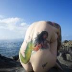 Sexy nude tattooed woman. — Stock Photo #9613851