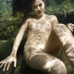 Nude woman underwater. — Stock Photo #9614211