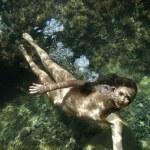 Nude woman underwater. — Stock Photo #9614213