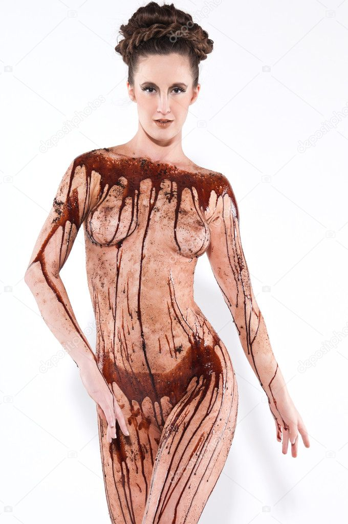 chocolate-covered-in-naked-syrup-woman